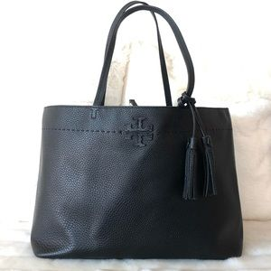 ✨Tory Burch Black Leather Tote
